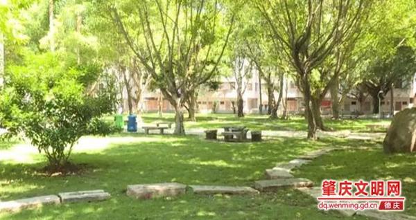 """德庆县城内社区公园升级改造 群众享受到""""双创""""成果"""