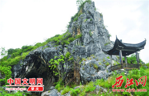 德庆县九市镇三洲岩留存宋代至清代90多幅达官名士