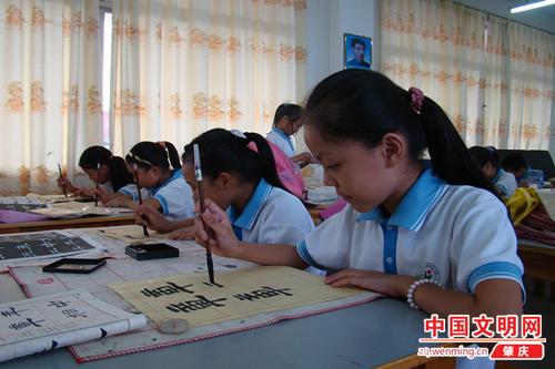 少年宫活动:习字养心