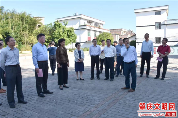 广东省肇庆市政协调研组到怀集开展乡村振兴调研
